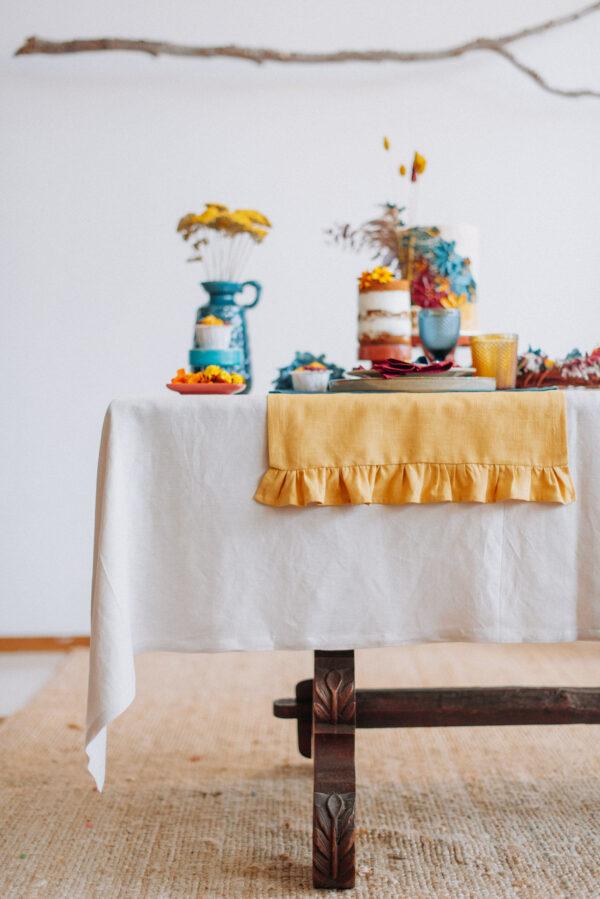 Caminho de mesa cakeshop mostarda