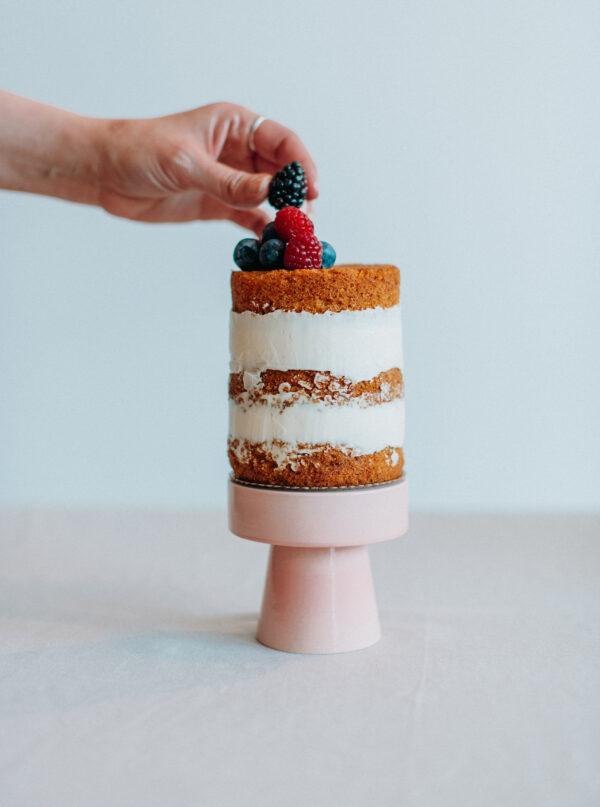 Mini cakestand Rosa